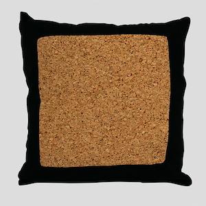Cool Chic Cork Designer Throw Pillow