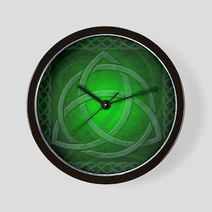 Vintage Celtic Dragon Knotwork Green Wall Clock