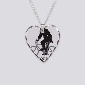 Bigfoot Rides Necklace Heart Charm