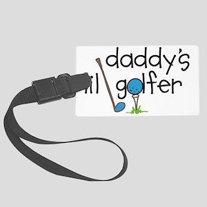 Daddys Lil Golfer Large Luggage Tag