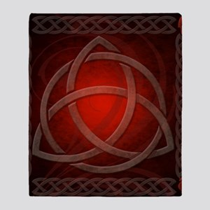Celtic Knotwork Dragon Red Throw Blanket