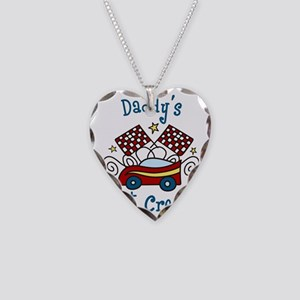 Daddys Pit Crew Necklace Heart Charm
