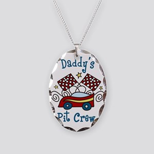 Daddys Pit Crew Necklace Oval Charm