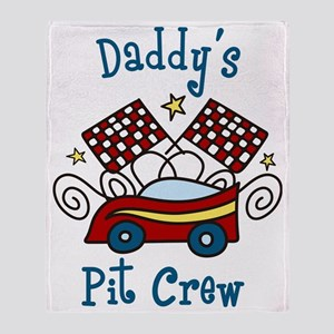 Daddys Pit Crew Throw Blanket