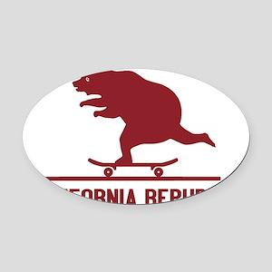 California Skateboarding Bear Flag Oval Car Magnet