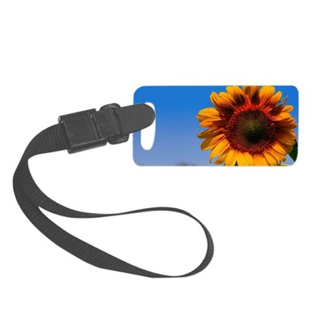 Artists Sunflower View Small Luggage Tag