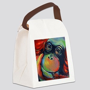 Orangutan Sam Canvas Lunch Bag