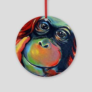 Orangutan Sam Round Ornament
