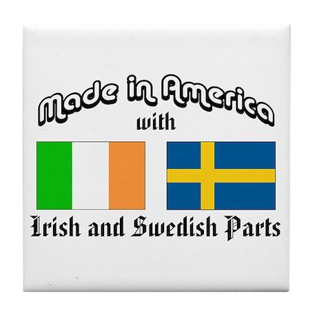 Irish-Swedish Tile Coaster