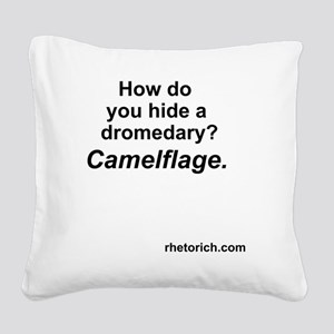 Camelflage 2 Square Canvas Pillow