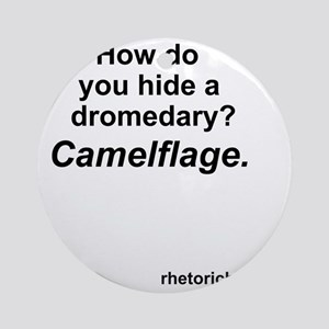 Camelflage 2 Round Ornament