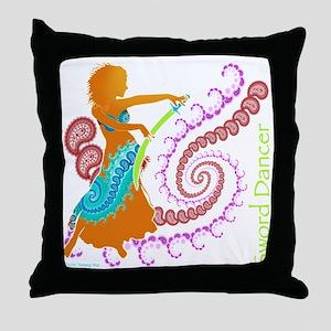 Sword Dancer Throw Pillow