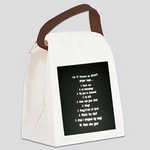 top 10  Phrases an Airsoft player Canvas Lunch Bag