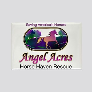 Angel Acres Horse Haven Rescue Rectangle Magnet
