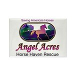 Angel Acres Horse Haven Rescue Rectangle Magnet
