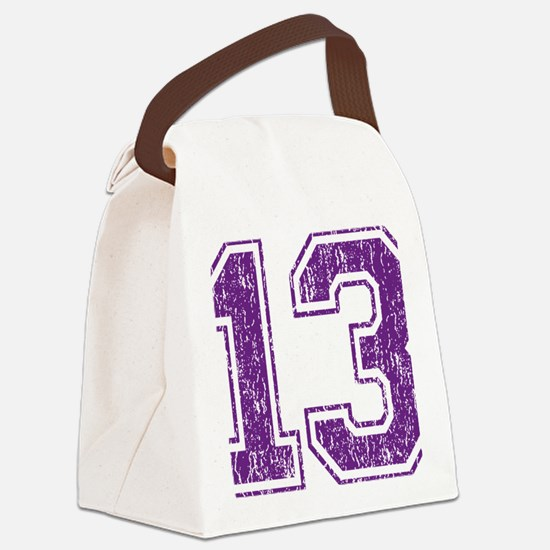Retro 13 Purple Canvas Lunch Bag