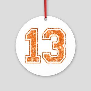 Retro 13 Orange Round Ornament