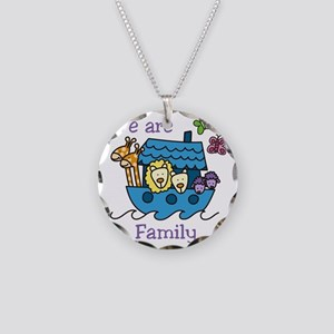 We Are Family Necklace Circle Charm