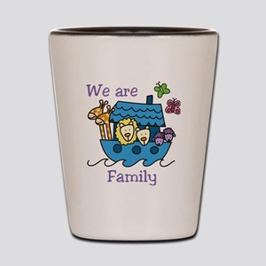 We Are Family Shot Glass