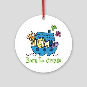 Born To Cruise Round Ornament