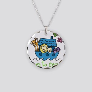 Born To Cruise Necklace Circle Charm