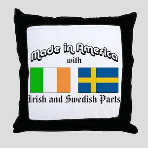 Irish-Swedish Throw Pillow