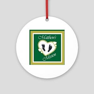Matthew's Mission Round Ornament