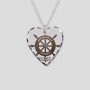 Stowaway Tavern Montauk NY Necklace Heart Charm