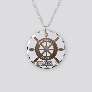 Stowaway Tavern Montauk NY Necklace Circle Charm
