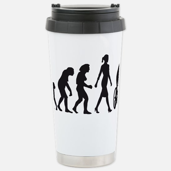 evolution female bicycl Stainless Steel Travel Mug