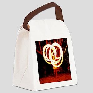 Tehani Fire Poi, Photo One Canvas Lunch Bag