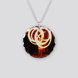 Tehani Fire Poi, Photo One Necklace Circle Charm