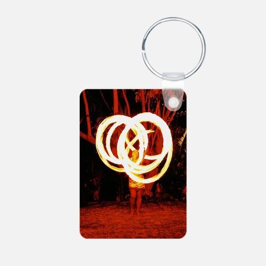 Tehani Fire Poi, Photo One Aluminum Photo Keychain