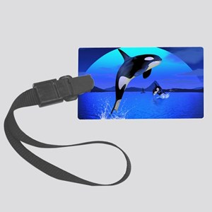 orca_Rectangular Canvas Pillow Large Luggage Tag