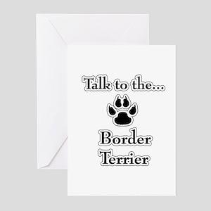 Border Terrier Talk Greeting Cards (Pk of 10)