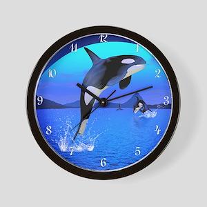 orca_wooden  Wall Clock