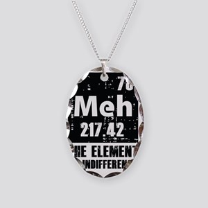 Indifference Necklace Oval Charm