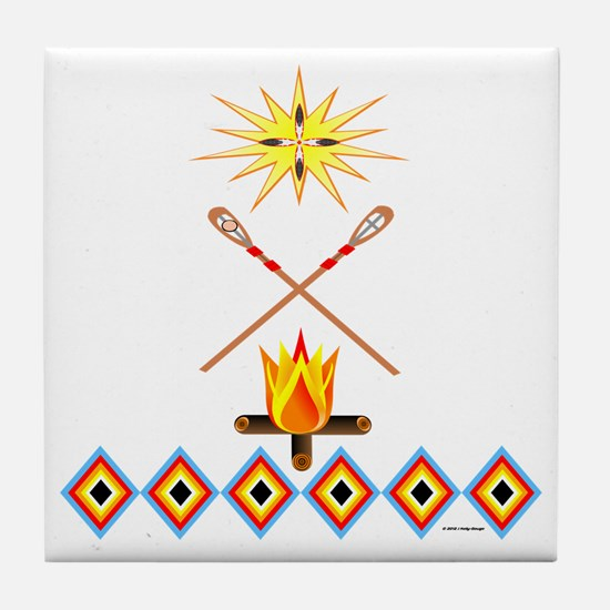 SOUTHEAST TRIBAL STICKBALL Tile Coaster