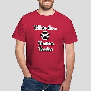 Boston Terrier Talk Dark T-Shirt