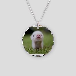 Vegan Love Necklace Circle Charm