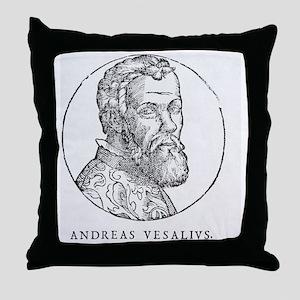 Andreas Vesalius, Dutch anatomist Throw Pillow