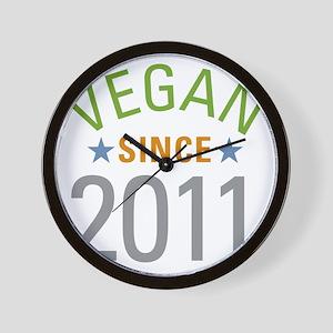 Vegan Since 2011 Wall Clock