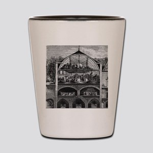 Champagne production, 19th century Shot Glass