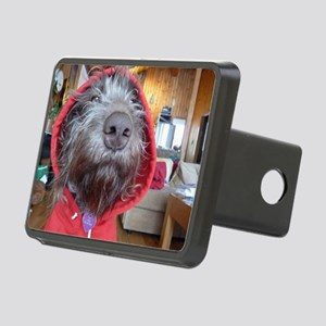Puppy as Red Riding Hood Rectangular Hitch Cover