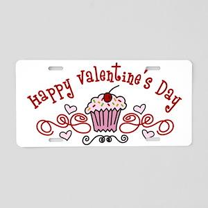 Valentine Cupcake Aluminum License Plate