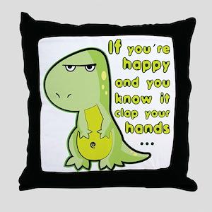 T-rex hands Throw Pillow