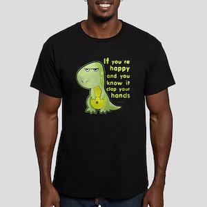 T-rex hands Men's Fitted T-Shirt (dark)