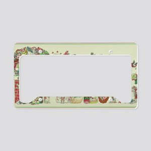 Christmas Papillons and Phale License Plate Holder