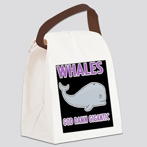 Whales Canvas Lunch Bag