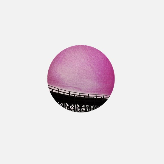 Roller Coaster in Pink Mini Button